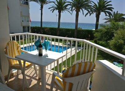Terrace with sea & pool view-small